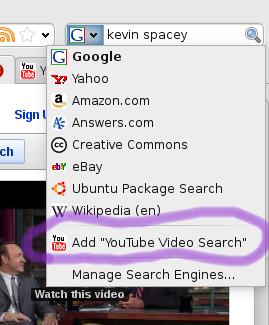 Menu aggiunta nuovo motore di ricerca Firefox