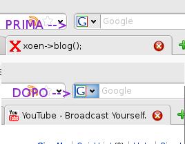 Firefox icona ricerca Prima/Dopo