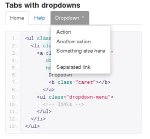 Bootstrap dropdown menu