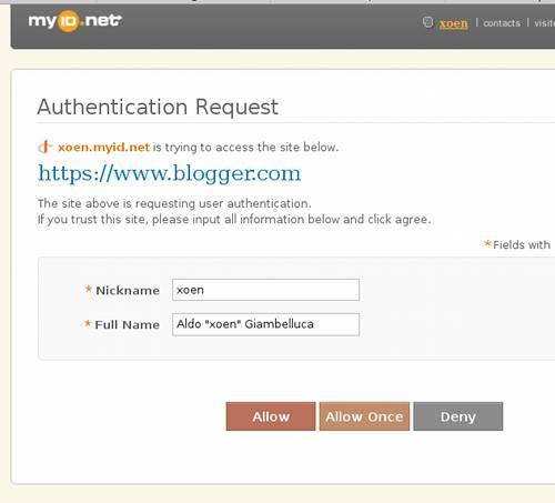 MyID.net - Autenticazione sito