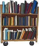 Una libreria con 3 scaffali pieni di libri